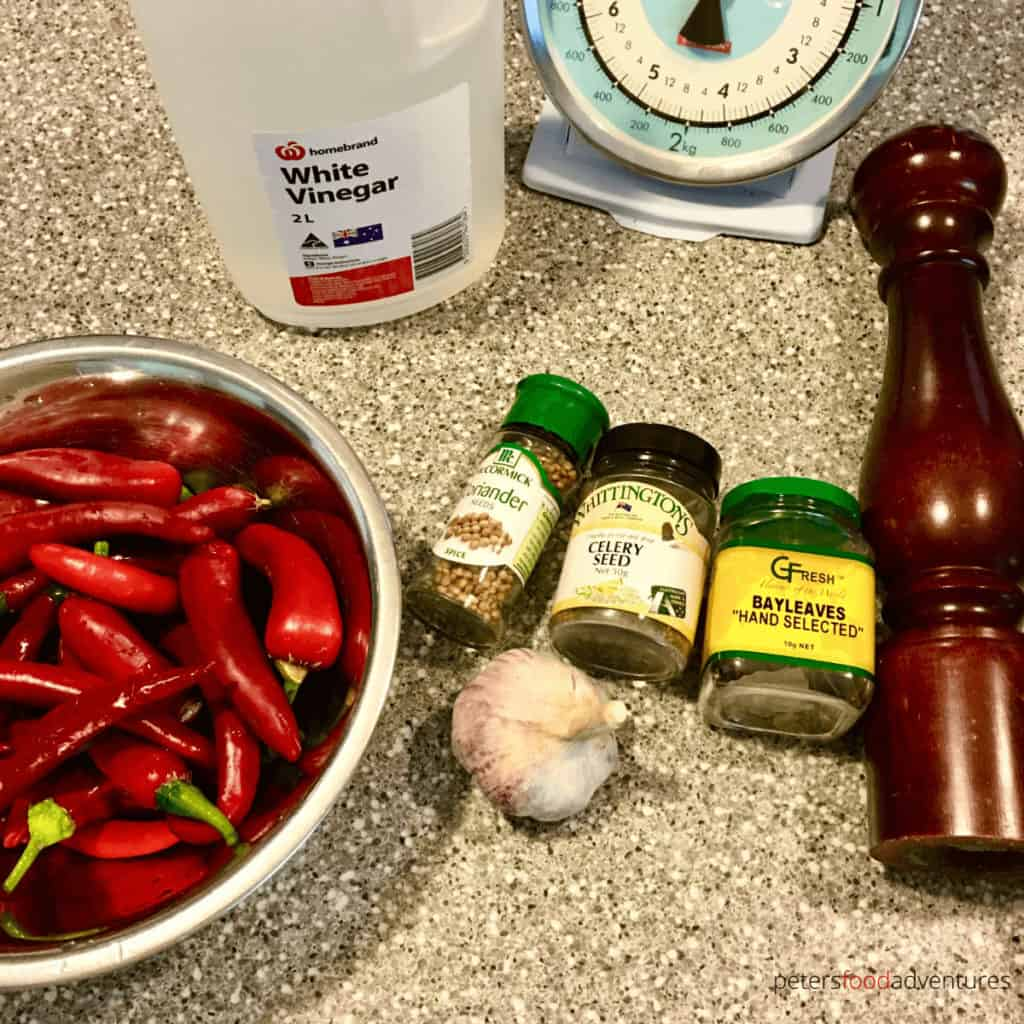 pickled chillies ingredients