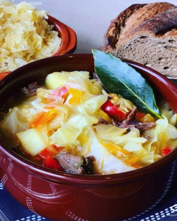 Russian Cabbage Soup is delicious and easy to make. I love eating this hearty and warming autumn favourite. Enjoyed in Russia for over 1000 years! Shchi (Щи)