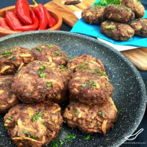 Beef Kotleti with Potato (Russian Meatballs) Котлеты