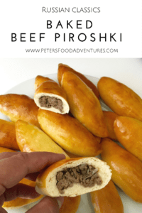 Baked Not Fried! A Classic Russian Meat Pie Stuffed with Ground Beef. Baked Beef Piroshki (Пирожки в духовке с мясом)