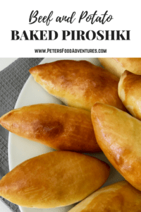Baked Potato Piroshki - stuffed with Potato & Beef - A healthier version of a Russian classic (Пирожки в духовке с картошкой)
