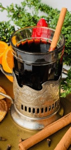A Swiss-German Hot Mulled Wine that is enjoyed during the holidays, or when it's cold outside. Similar to Glogg, Quentao, Vin Chaud and Glintwein. Perfect for the holidays, It tastes like Christmas in a cup. Gluhwein recipe (Глинтвейн)
