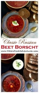 Authentic Beet Borscht with cabbage and potatoes. Easy, delicious and heartwarming. Borscht is so popular, that it was even eaten by Soviet cosmonauts in space. Beet Borscht Recipe (Борщ)