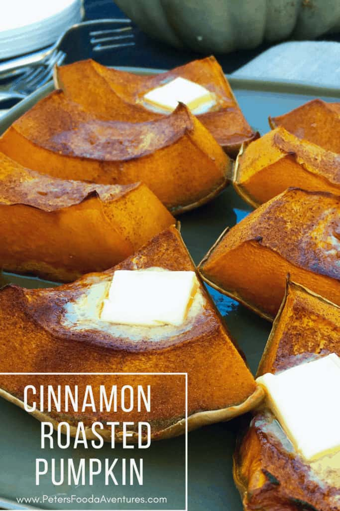 This is a rustic dessert from my childhood. When harvest was done, mum always baked pumpkin with butter and brown sugar, just in time for Thanksgiving season. Sweet Roasted Pumpkin - Cinnamon Roasted Pumpkin (тыква запеченная с корицей)