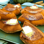 This is a rustic dessert from my childhood. When harvest was done, mom always baked pumpkin with butter and brown sugar, just in time for Thanksgiving season. Sweet Roasted Pumpkin - Cinnamon Roasted Pumpkin (тыква запеченная с корицей)