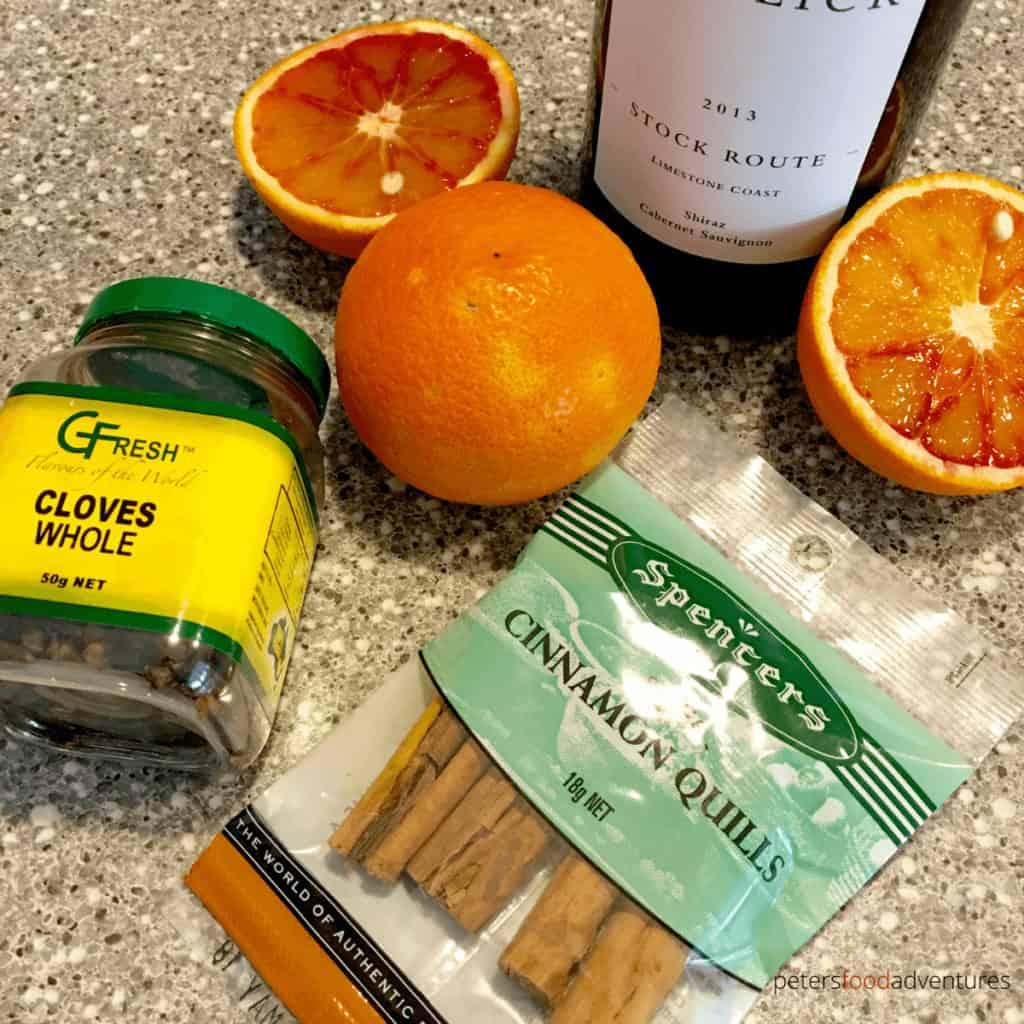ingredients for gluhwein