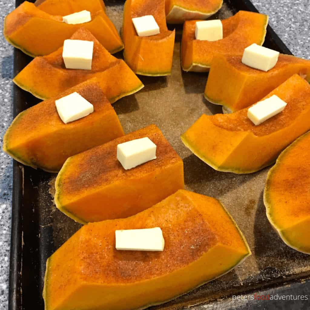 roasting pumpkin with butter