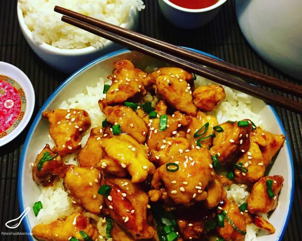 Honey Sesame Chicken Recipe Peter S Food Adventures