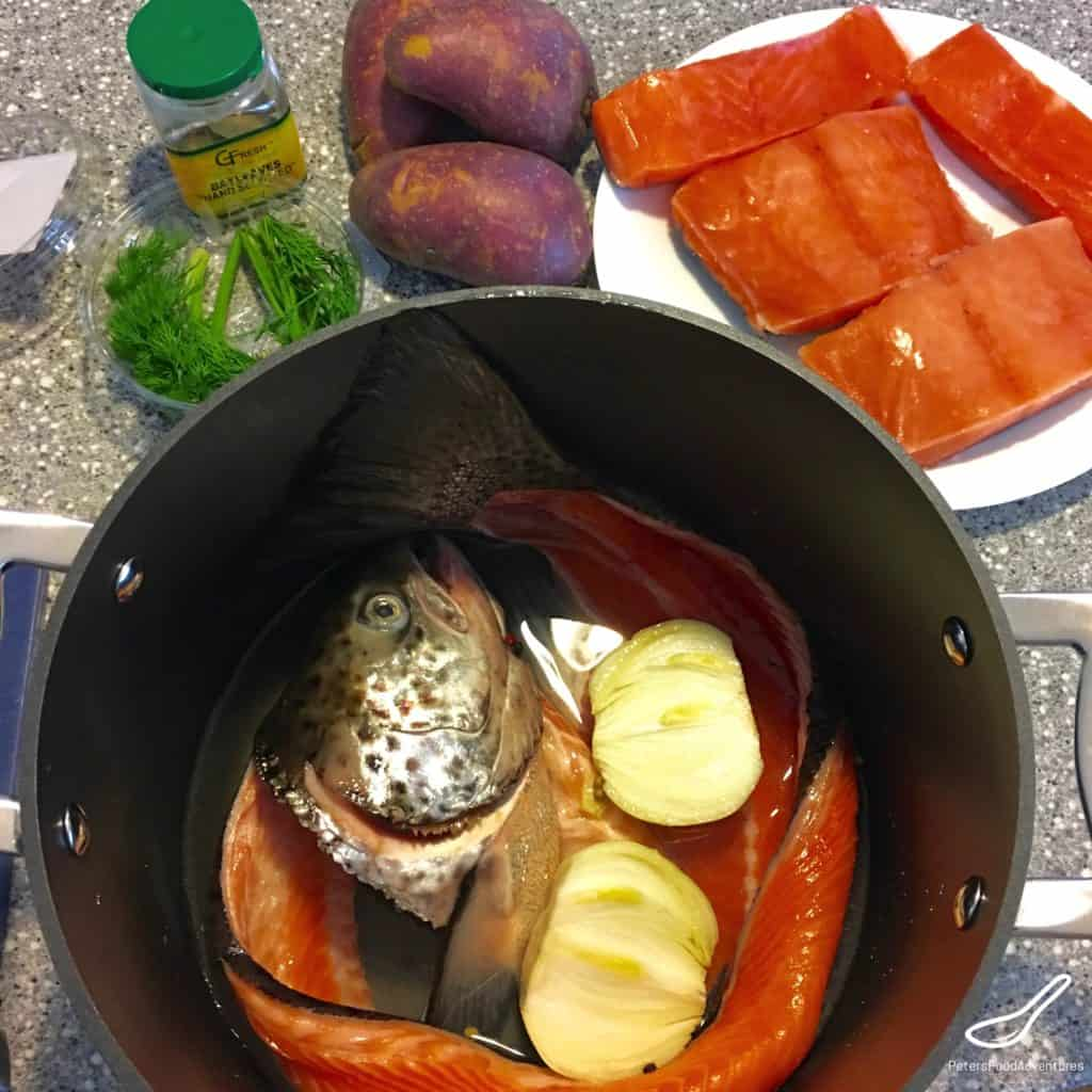 Rustic Russian Fish Soup ingredients