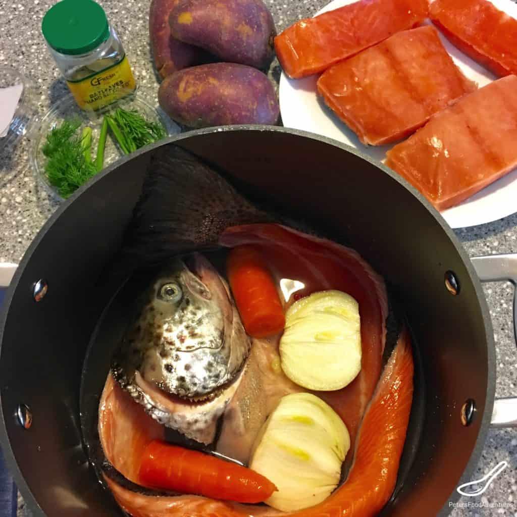 Salmon Heads in a Soup Pot