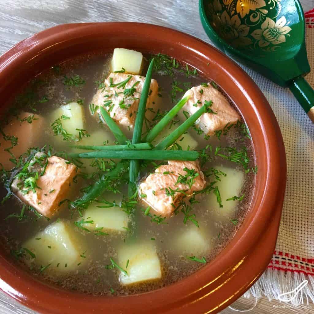 Rustic Russian Fish Soup - Ukha Fish Soup (Уха)