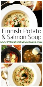 A creamy Salmon and Potato Soup or Creamy Ukha Soup. Real Fish Broth made with fish heads. Lohikeitto - Finnish Salmon Soup (Финская уха)
