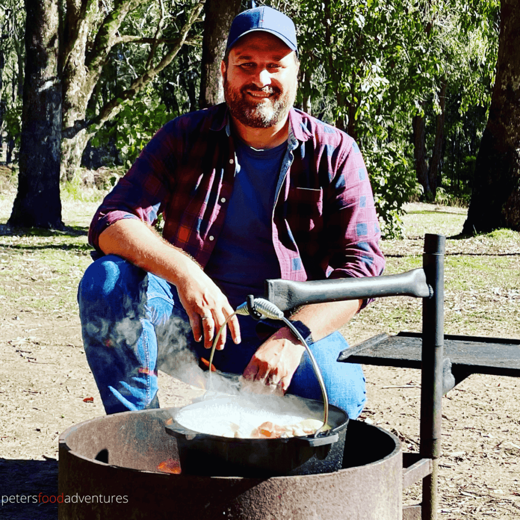 peter's food adventures campfire cooking soup