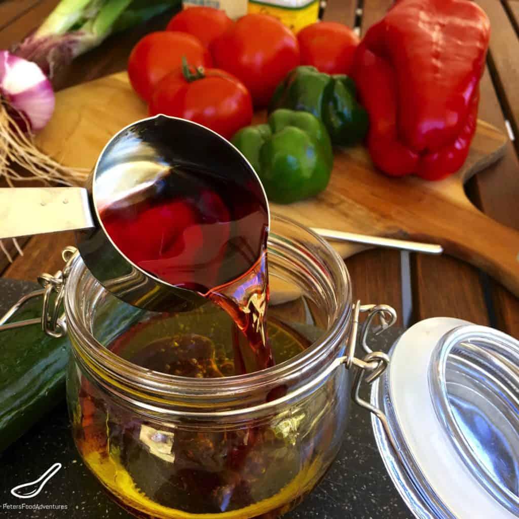 Making Greek Salad Dressing