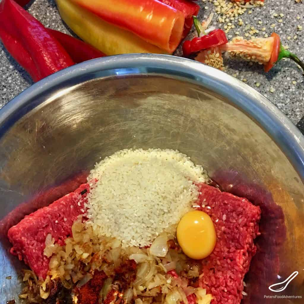 hungarian pepper stuffing ingredients