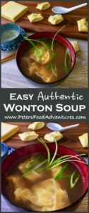 Authentic Wonton Soup recipe with easy step by step instructions, made with broth from leftover turkey. Healthy, lean and delicious! Turkey Wonton Soup