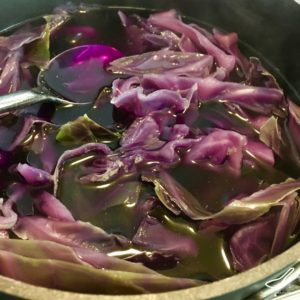Red Cabbage Easter egg Dye