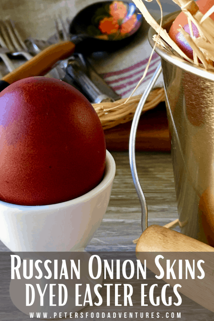 Russian Easter Eggs dyed in Onion Skins