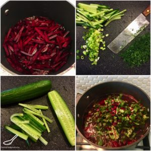 Making Cold Beet Soup
