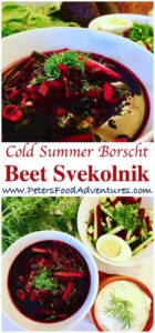 Russian Cold Soup made with Beets
