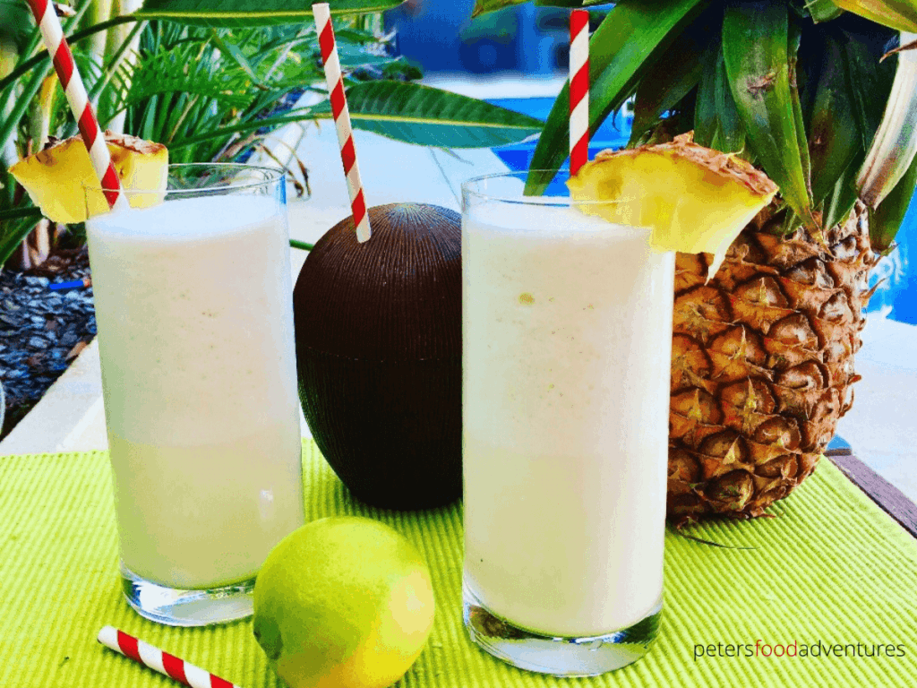 This family friendly Virgin Pina Colada recipe is so easy to make. All you need is a few ingredients and a blender! Add fresh pineapple for extra natural sweetness and tropical flavor! A creamy and refreshing summer mocktail!