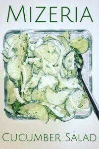 Cucumber Salad dressed in sour cream