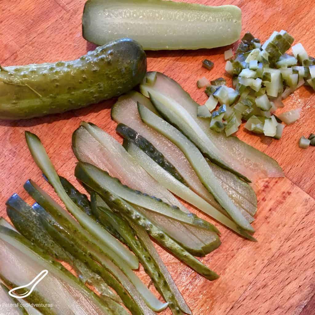 Diced Pickles for Tartar Sauce
