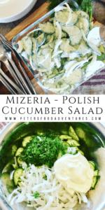 Mizeria Polish Cucumber Salad
