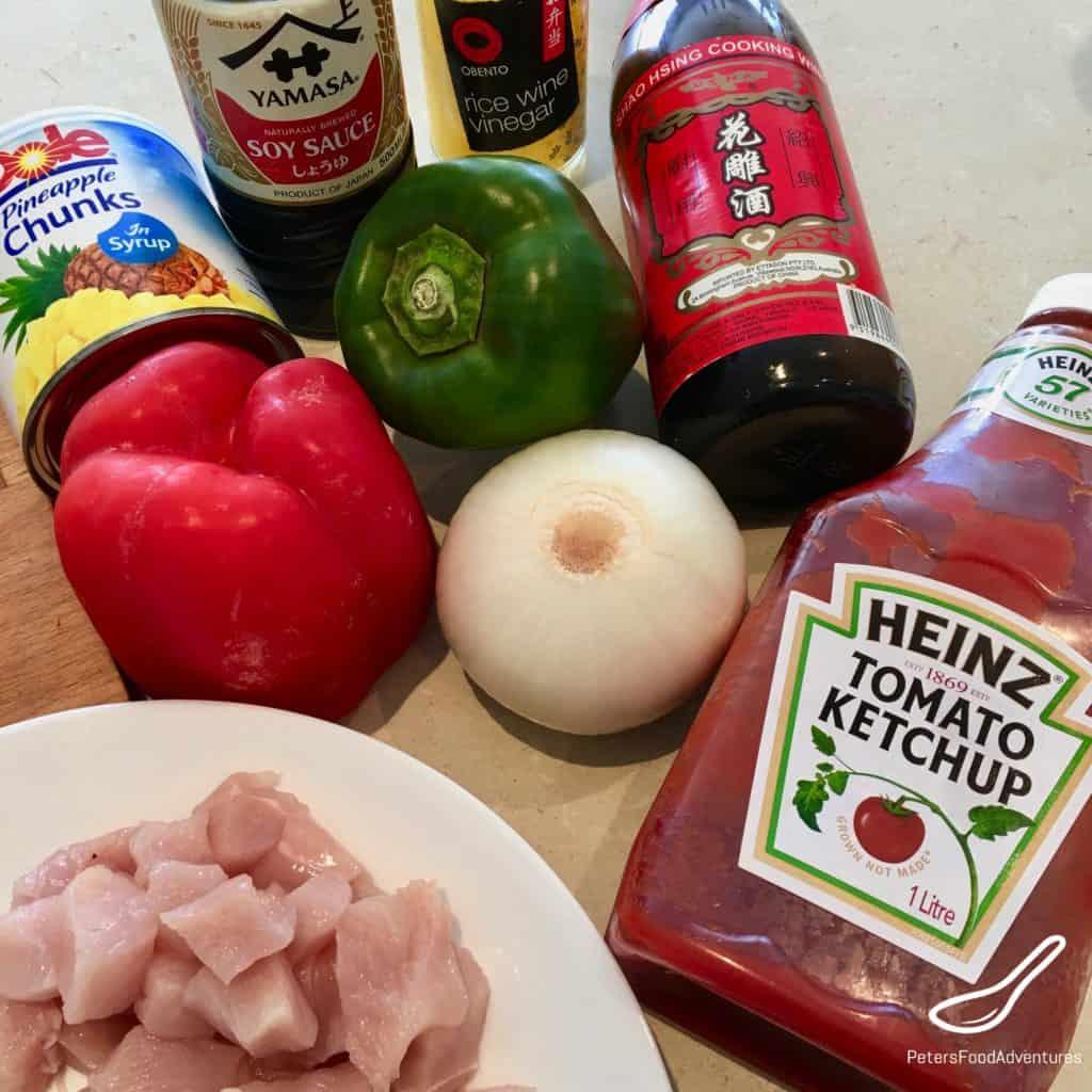 Sweet and Sour Pork Ingredients