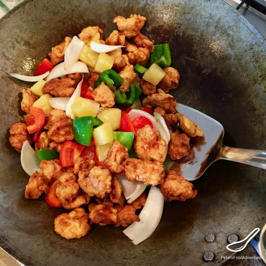 Sweet and Sour Pork in a Wok