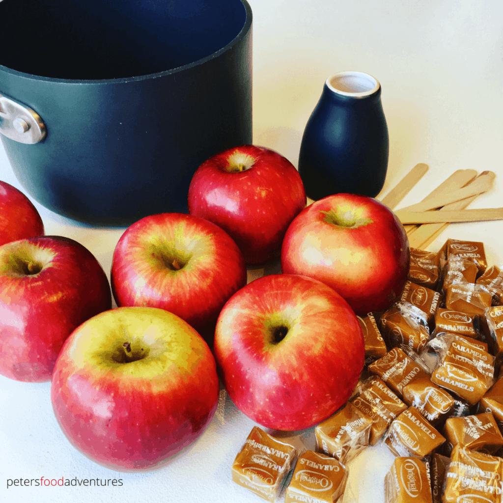 ingredients for kraft caramel apples