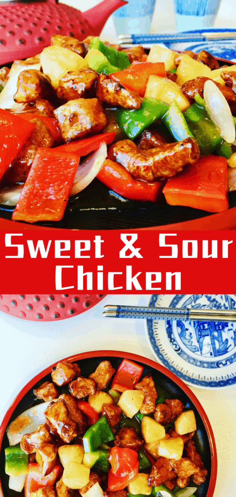 Sweet and Sour Chicken with Pineapple is a yummy Chinese American favorite. Tastes just like take out!