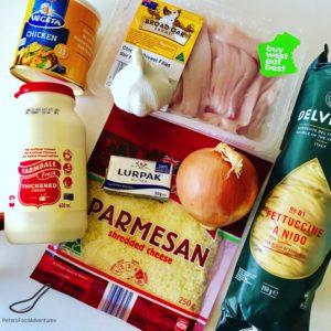 Fettuccine ingredients