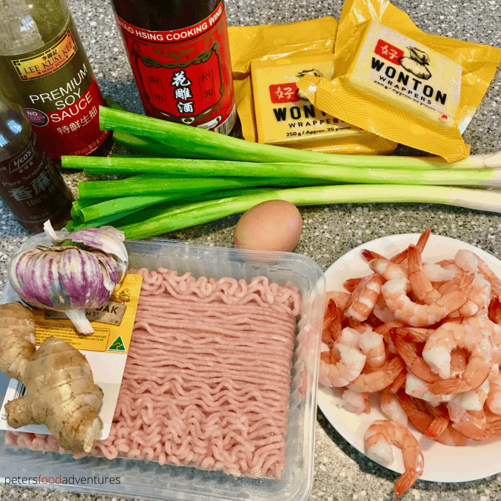 chicken and shrimp wonton wrapper ingredients