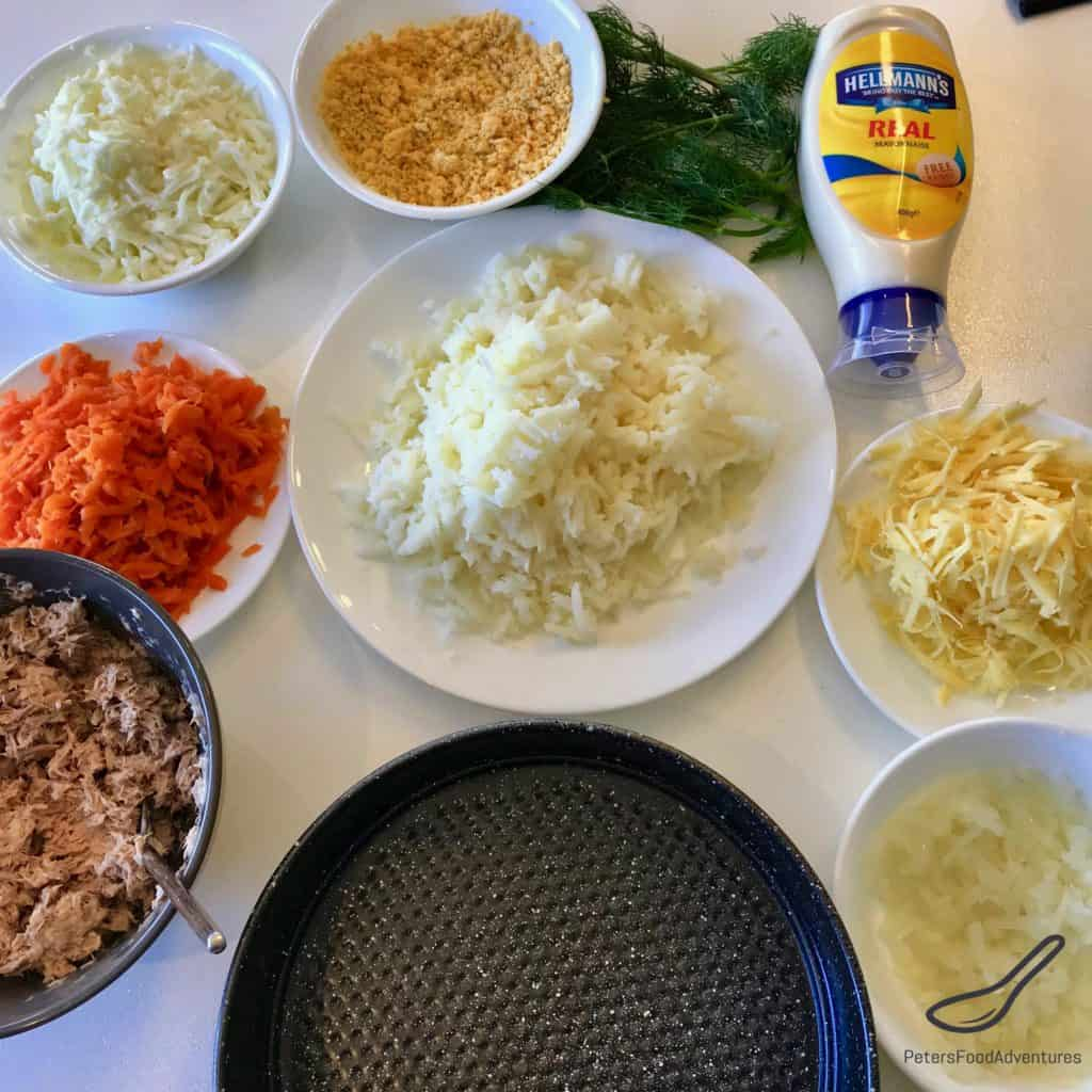 Mimoza Salad ingredients