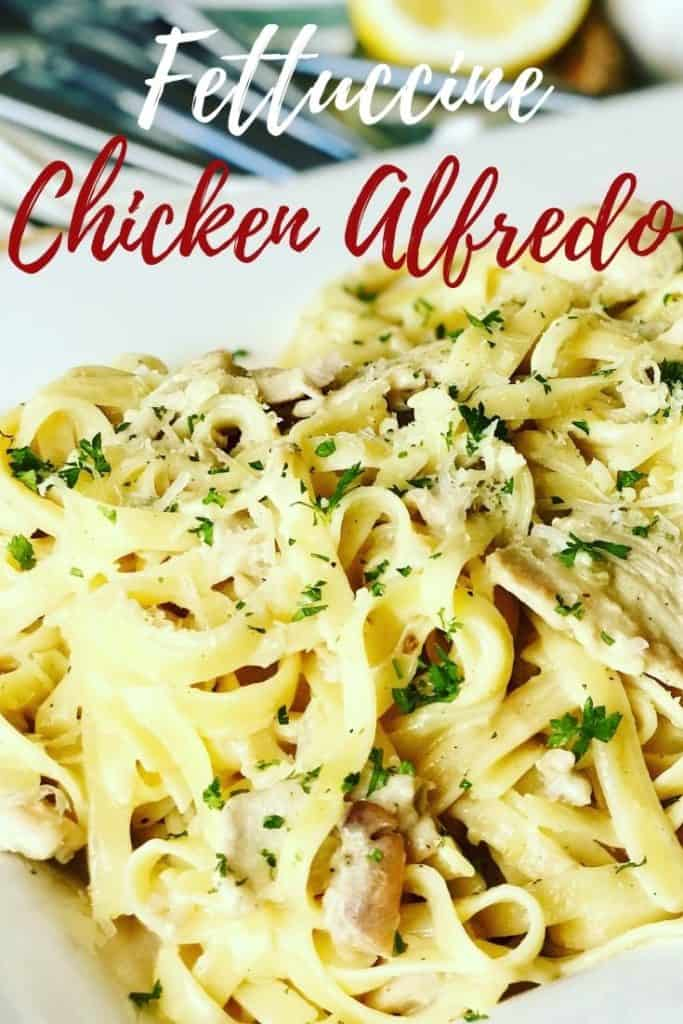 Perfect for a weeknight or weekend dinner, this family dinner favorite is so easy to make! Caramelized onions, smothered in cream, milk, stock and parmesan cheese. A healthier lower fat recipe, but you'd never know it! Chicken Fettuccine Recipe
