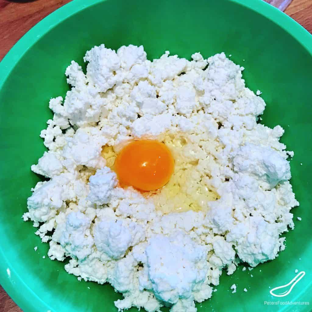 Preparing Farmer's Cheese for Vareniki
