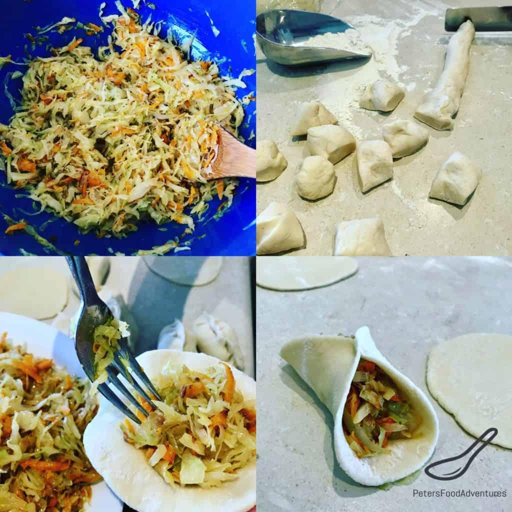 Making Cabbage Pirozhki
