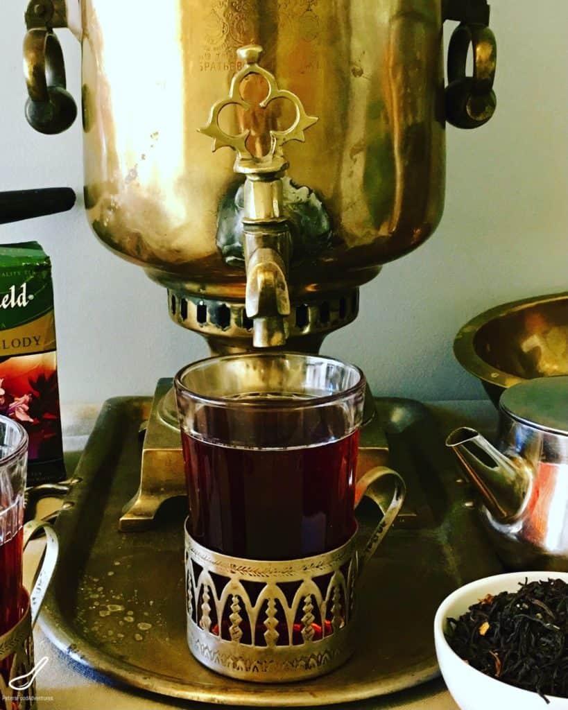 Making Zavarka Tea in a Russian Samovar