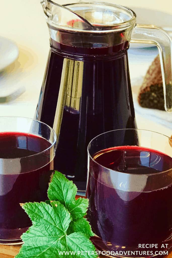 Homemade Blackcurrant and Cranberry Juice - Russian Mors