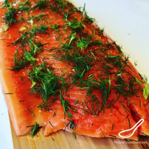 Trout fillet with honey and dill