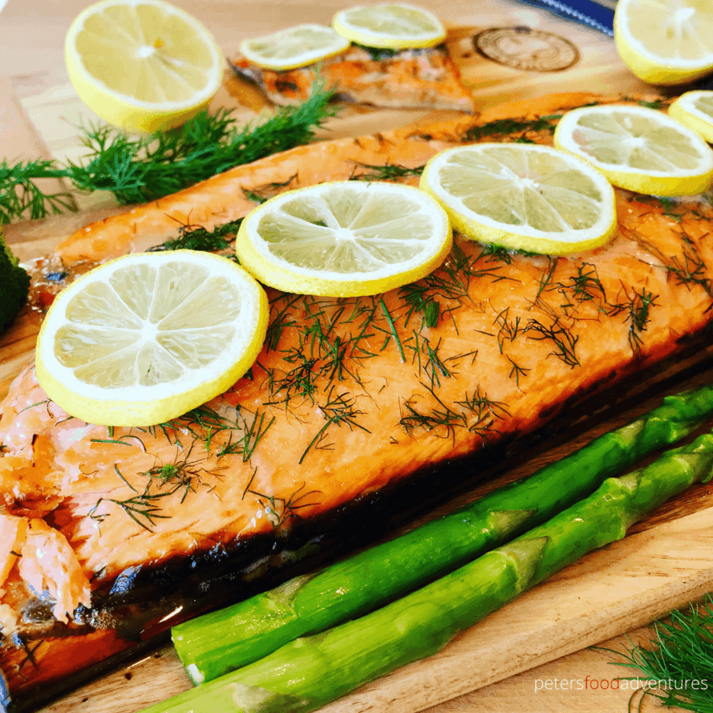 Honey Dill Trout recipe is perfect for your next summer bbq. Grilled on a cedar plank, adding a smokey, woodsy infusion to your Steelhead Trout fillet or Salmon fillet. Incredibly easy to make, using honey, lemon and dill, the perfect flavors for a healthy dinner recipe.