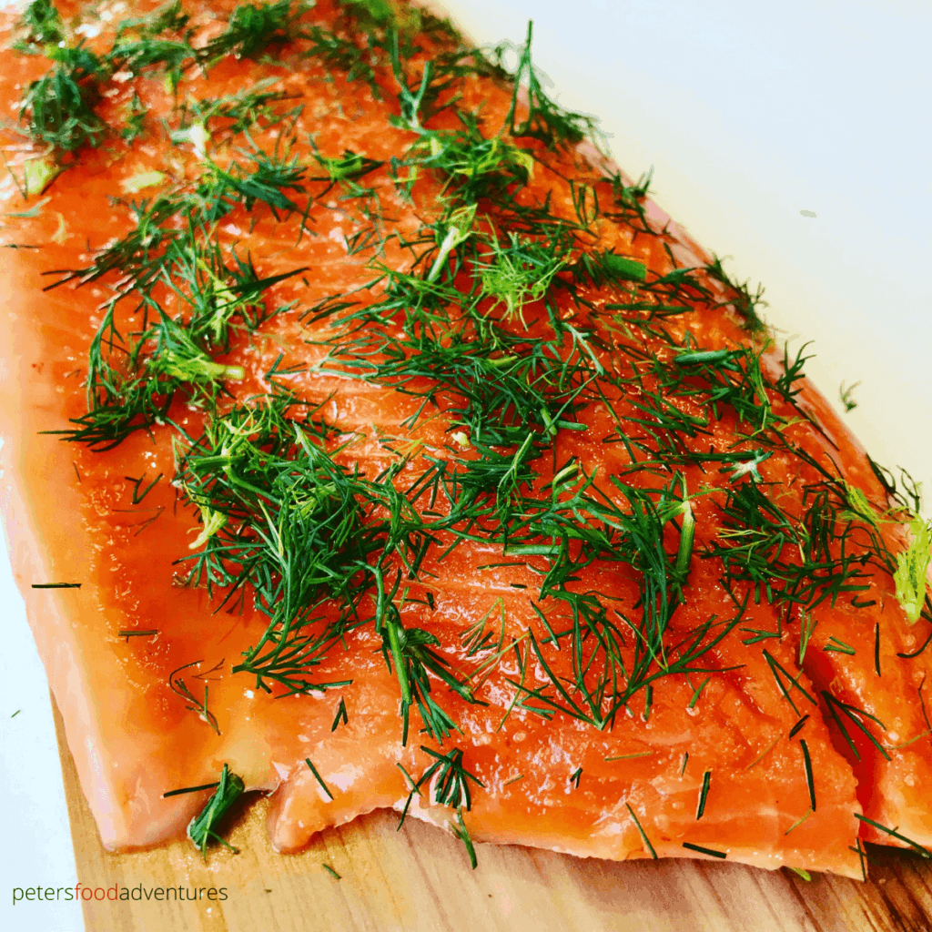 honey dill trout before baking