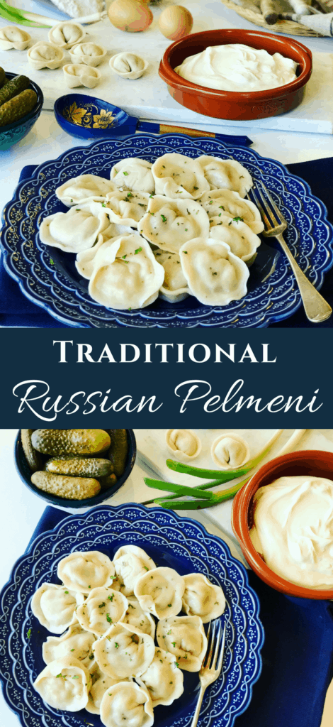 Pelmeni (Пельмени) are classic Russian dumplings that we all have in our freezer for an easy emergency meal. Step by step instructions make it easy to make. It takes some prep, we make hundreds, but it's worth the effort. Plus it saves you time later!