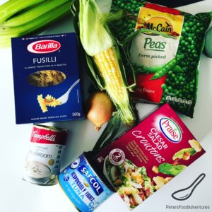 Ingredients for Tuna Noodles Pasta