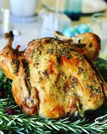 You can enjoy a Roast Turkey anytime of year, not just at Thanksgiving or Christmas! A deliciously crispy butter basted turkey with fresh thyme and garlic. Butter Basted Roasted Turkey Recipe