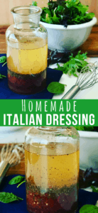A jar of Homemade Italian Salad Dressing