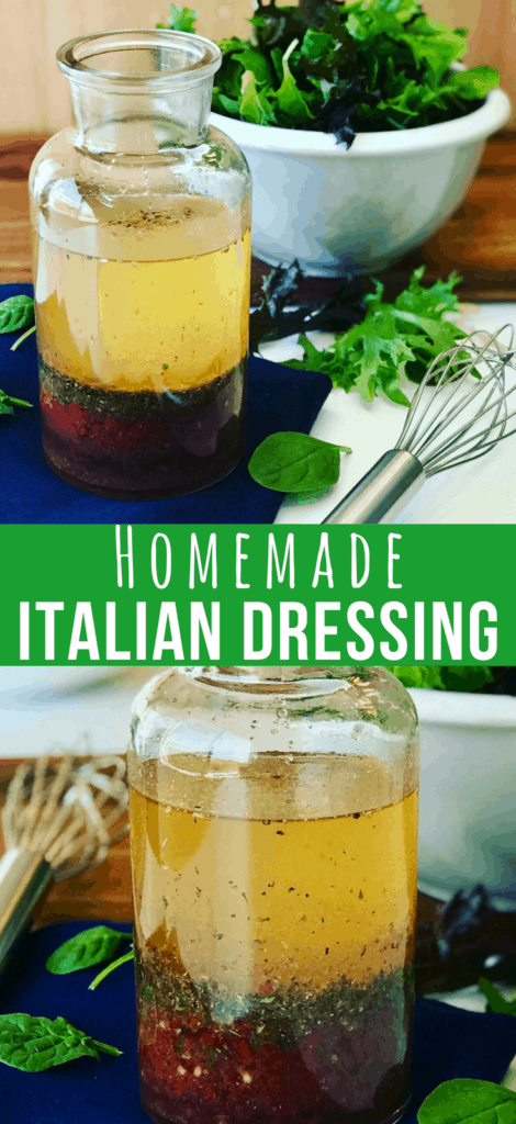 A Zesty Italian Dressing Recipe is a delicious vinaigrette, perfect for a summer salad. So easy to make, and you'll probably have all the ingredients in your pantry. My Kraft Copycat Italian Dressing Recipe