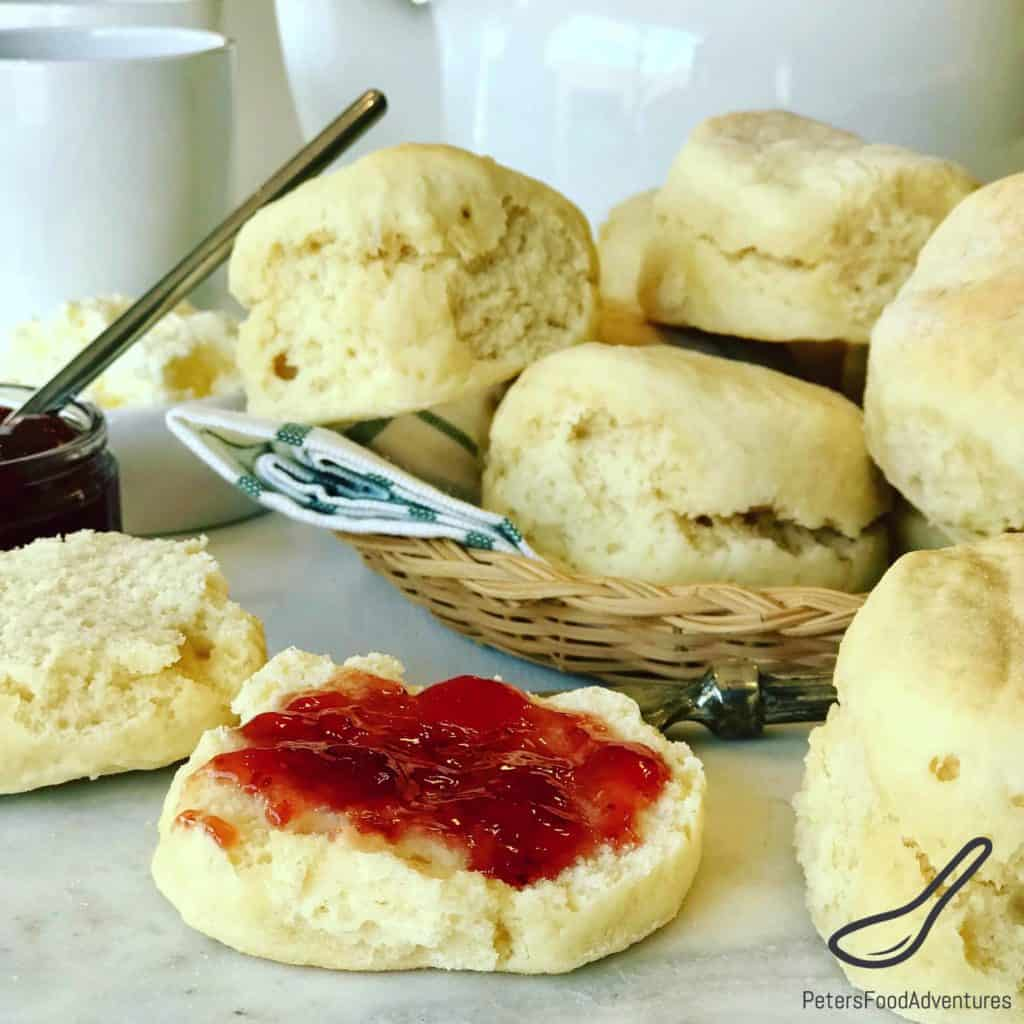 An Easy Scone Recipe made with 7 Up or Sprite. Known as Lemonade Scones in Australia, made with only 3 ingredients! Similar to 7 UP Biscuits. Serve with jam and fresh whipped cream. I love scones for breakfast.