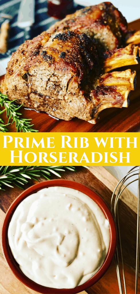 prime rib with horseradish sauce
